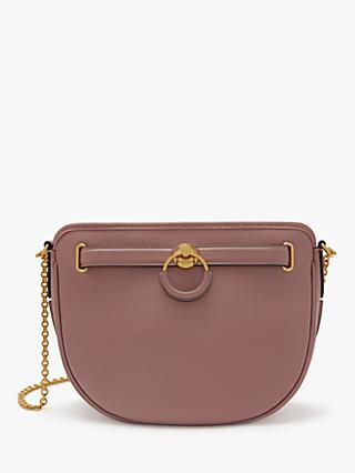 Mulberry Brockwell Silky Calf's Leather Shoulder Bag, Mocha Rose