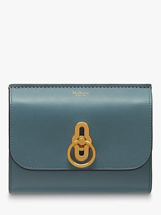 Mulberry Amberley Small Silky Calf Leather Medium Wallet, Poseidon Blue