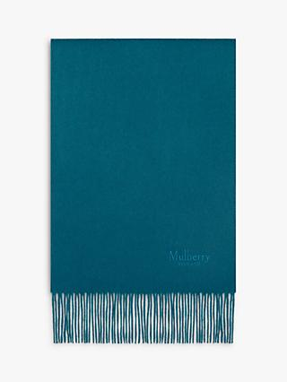 Mulberry Cashmere Scarf, Nordic Blue