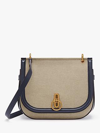59e3c4b9 Mulberry Amberley Canvas Satchel Bag, Midnight