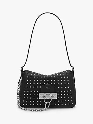 1be3cea47b0 Mulberry Mini Keeley Classic Grain Leather Rivet Shoulder Bag, Black