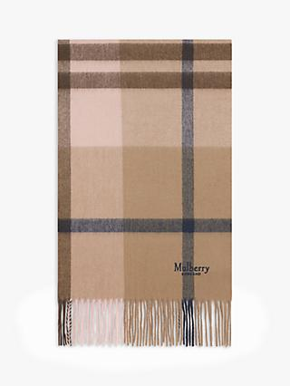 Mulberry Small Check Lambswool Scarf