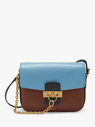 Mulberry Keeley Silky Calf Leather Colour Block Satchel Bag