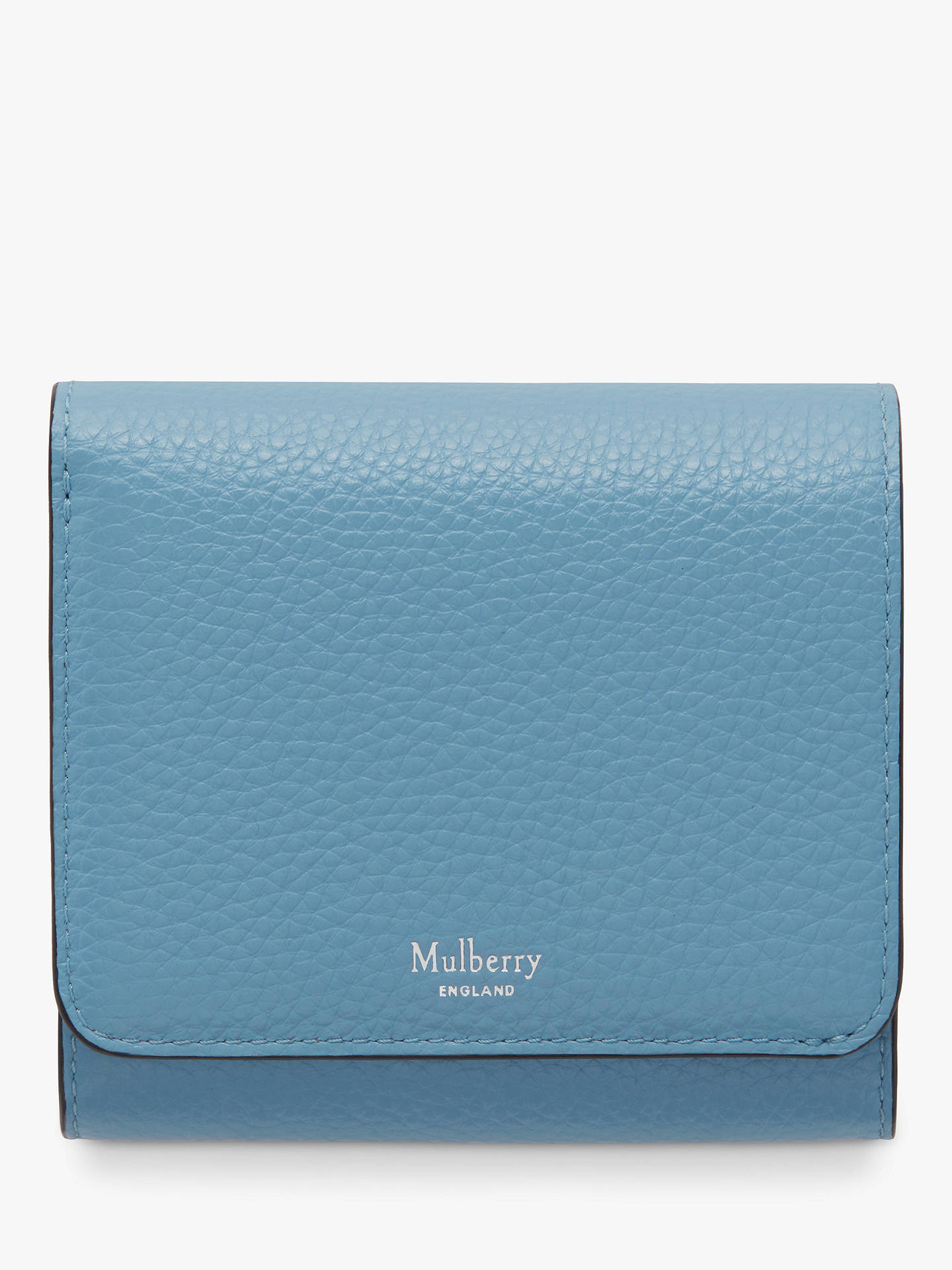 Buy Mulberry Continental Classic Grain Leather Small French Purse, Pale Slate Online at johnlewis.com