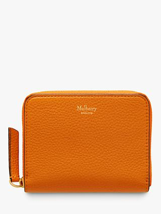 Mulberry Small Classic Grain Leather Small Zip Around Purse