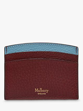 Mulberry Classic Grain Leather Curved Credit Card Slip