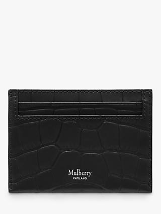 Mulberry Continental Croc Embossed Leather Credit Card Slip