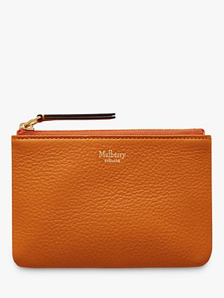 Mulberry Small Classic Grain Leather Zip Coin Pouch