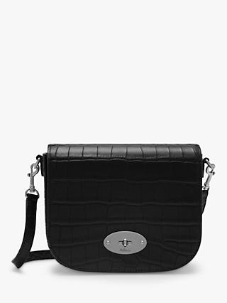 Mulbery Small Darley Croc Print Leather Satchel Bag