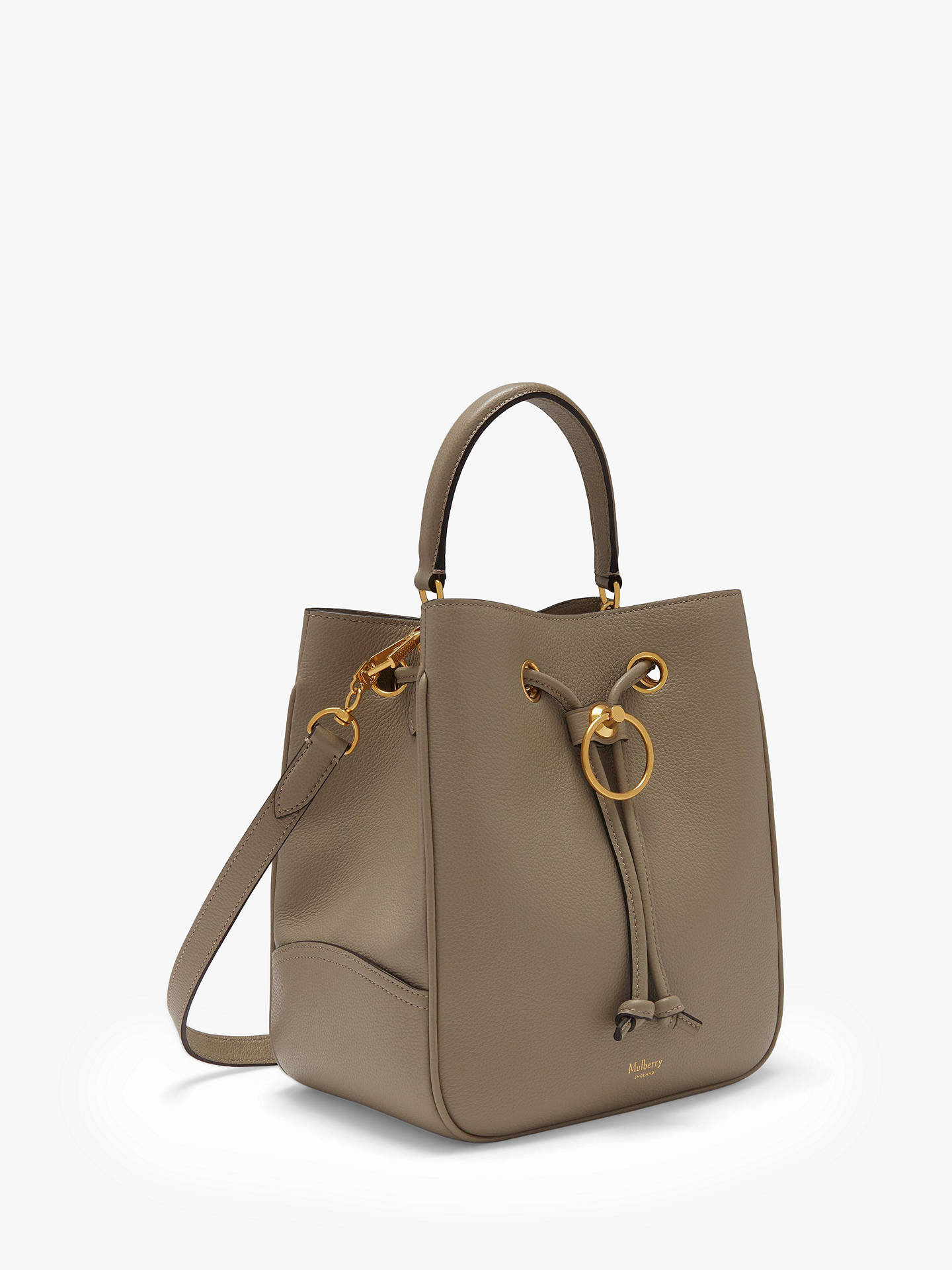 Buy Mulberry Large Hampstead Classic Grain Leather Shoulder Bag, Solid Grey Online at johnlewis.com