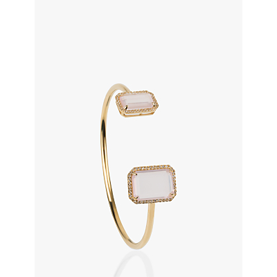 Emily Mortimer Jewellery Electra Emerald Cut Stone Open Bangle