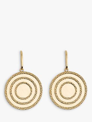 Emily Mortimer Echo Textured Disc Drop Earrings