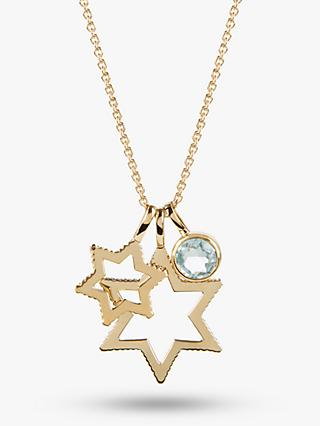 Emily Mortimer Cosmo Triple Star Pendant Necklace