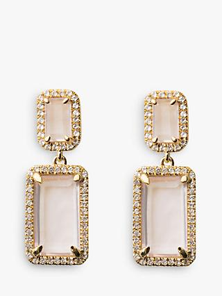 Emily Mortimer Electra Emerald Cut Stone Drop Earrings