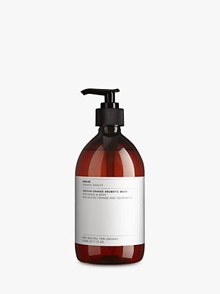 Evolve Organic Beauty African Orange Aromatic Wash for Hands & Body, 500ml