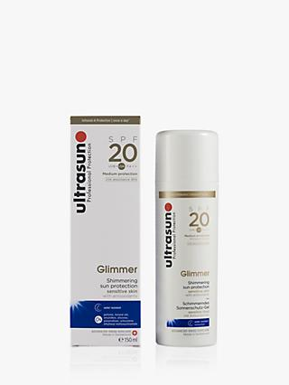 Ultrasun Glimmer Shimmering Sun Protection Body Sun Cream SPF 20, 150ml