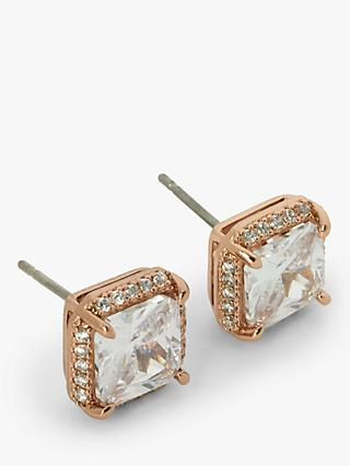 978178cd6 kate spade new york Cubic Zirconia Stud Earrings, Rose Gold/Clear