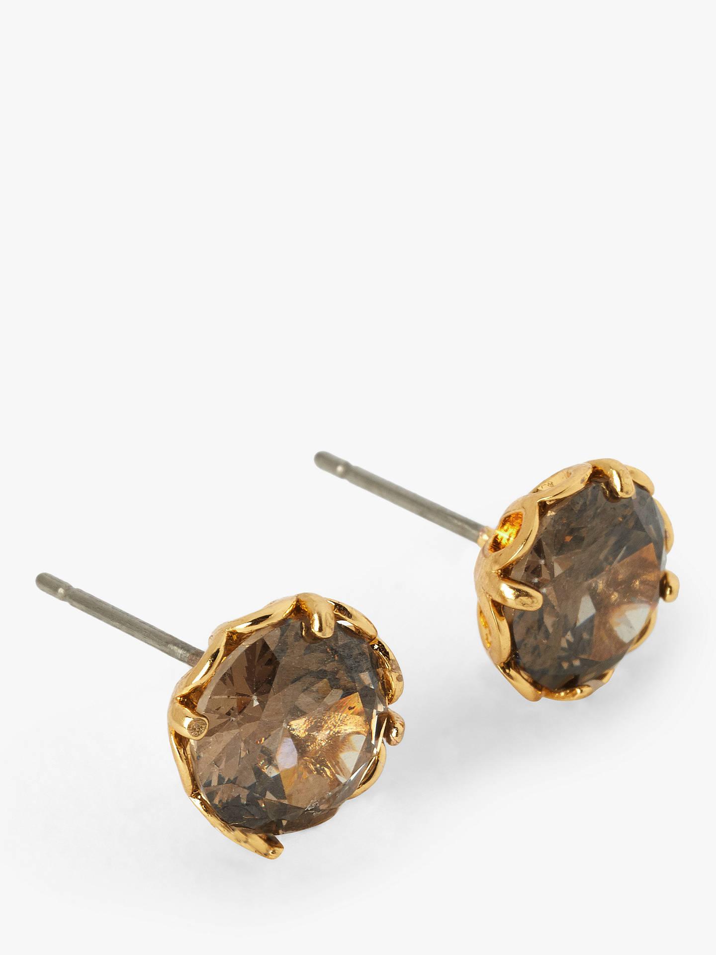 7d4d052b4437a0 Buy kate spade new york Cubic Zirconia Stud Earrings, Gold/Black Online at  johnlewis ...