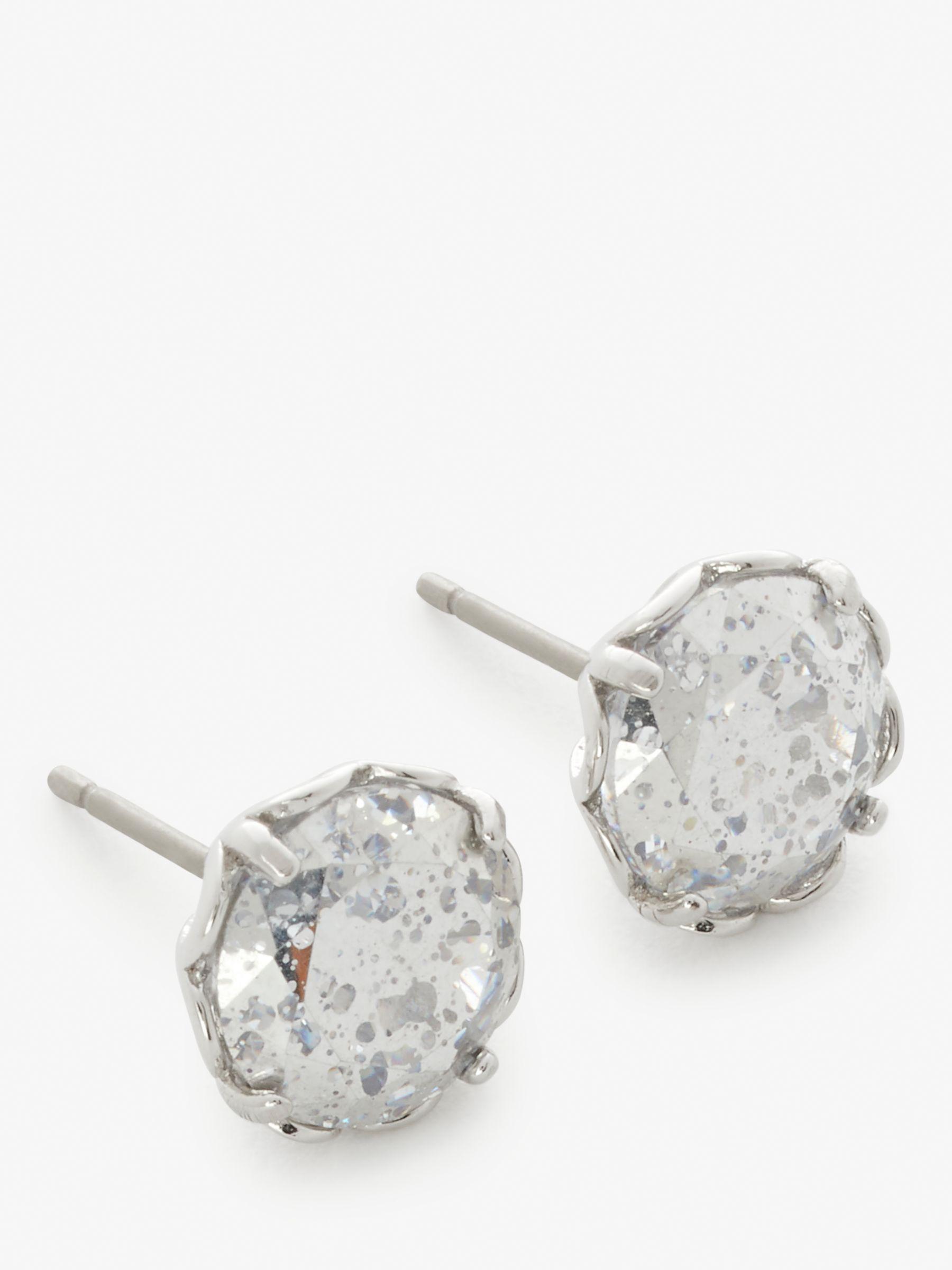 Kate Spade New York Cubic Zirconia Stud Earrings Silver Clear