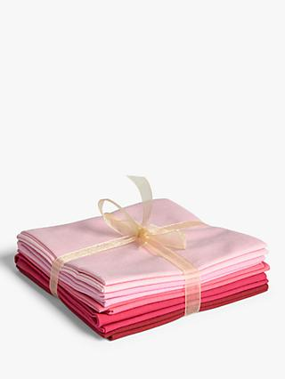 Oddies Textiles Spectrum Fat Quarter Fabrics, Pack of 5, Pink