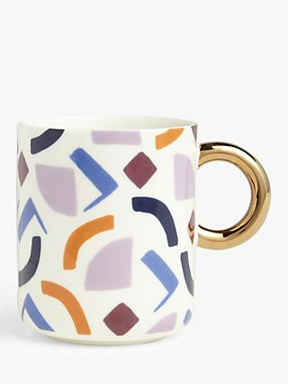 John Lewis & Partners Retro Shapes Mug, 430ml