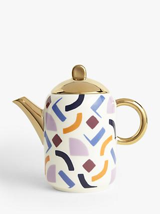 John Lewis & Partners Retro Shapes Teapot, 735ml