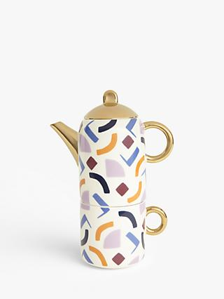 John Lewis & Partners Retro Shapes Tea for One Teapot, 430ml