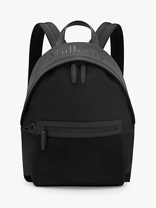 Mulberry Mesh Zipped Backpack, Black