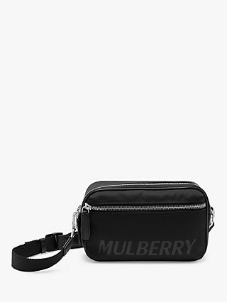 Mulberry Urban Zipped Reporter ECONYL® Cross Body Bag, Black