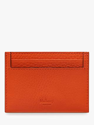 Mulberry Heavy Grain Leather Credit Card Slip