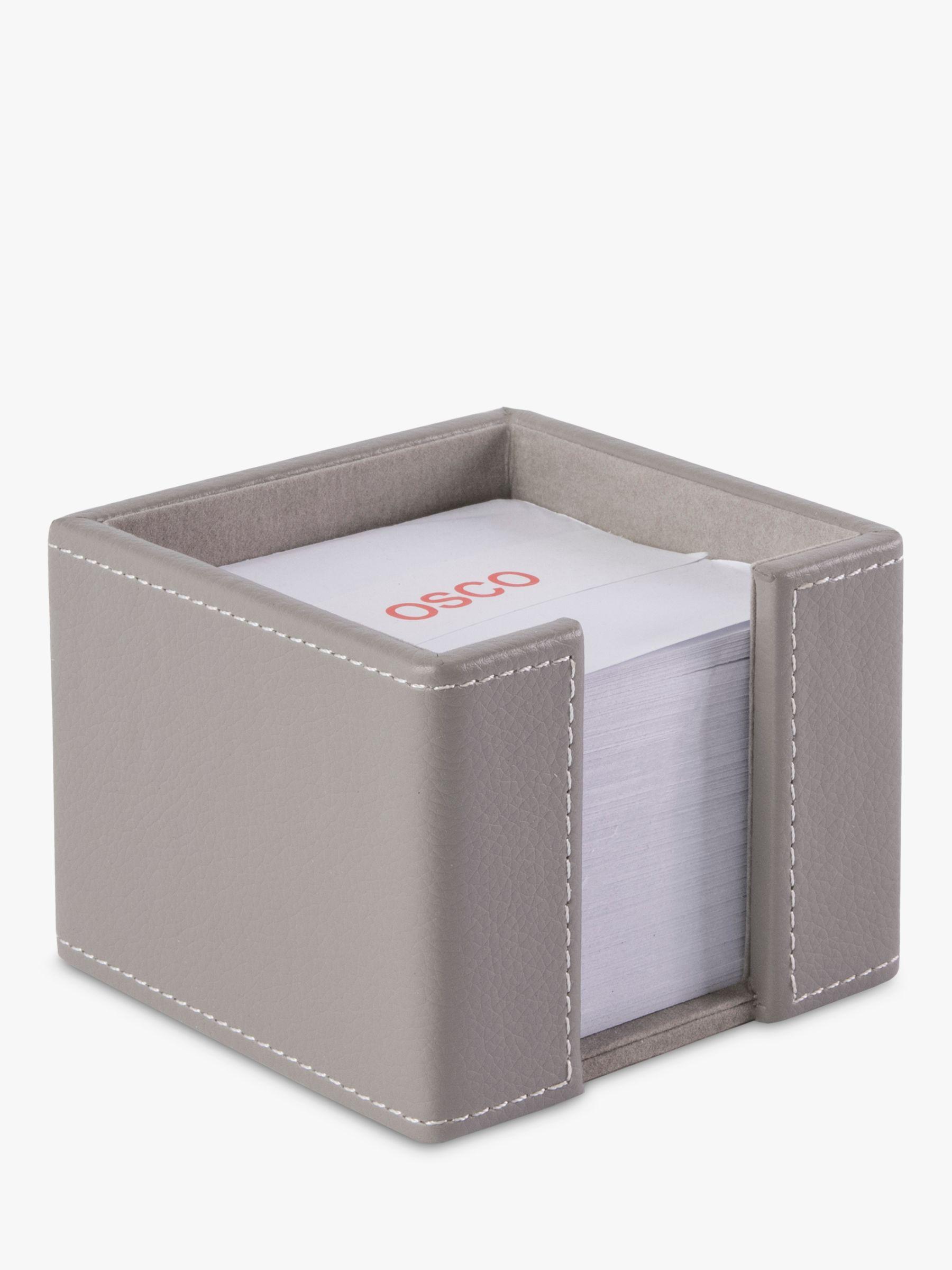 Osco Osco Faux Leather Memo Pad Holder