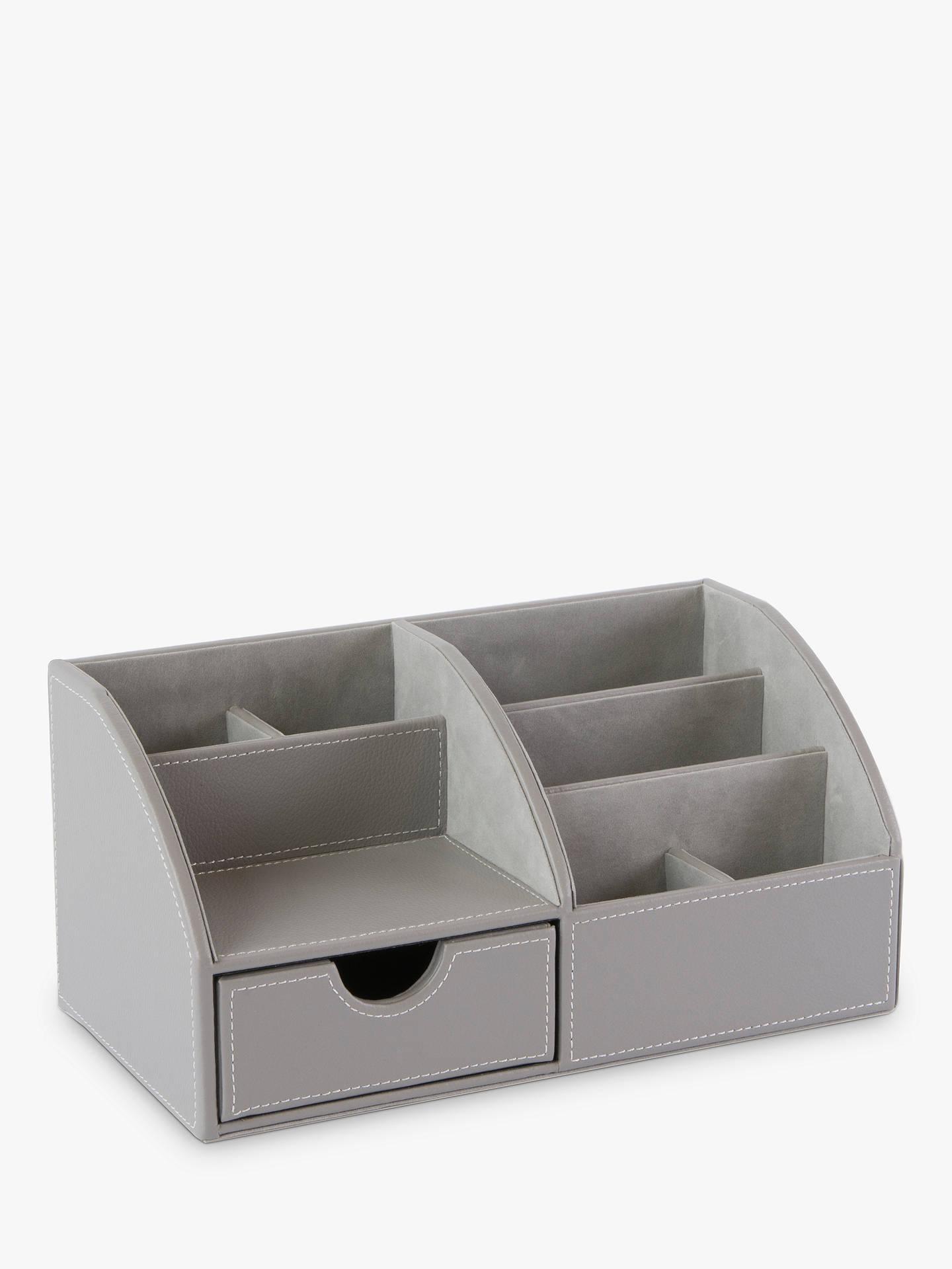 Osco Faux Leather Desk Organiser At
