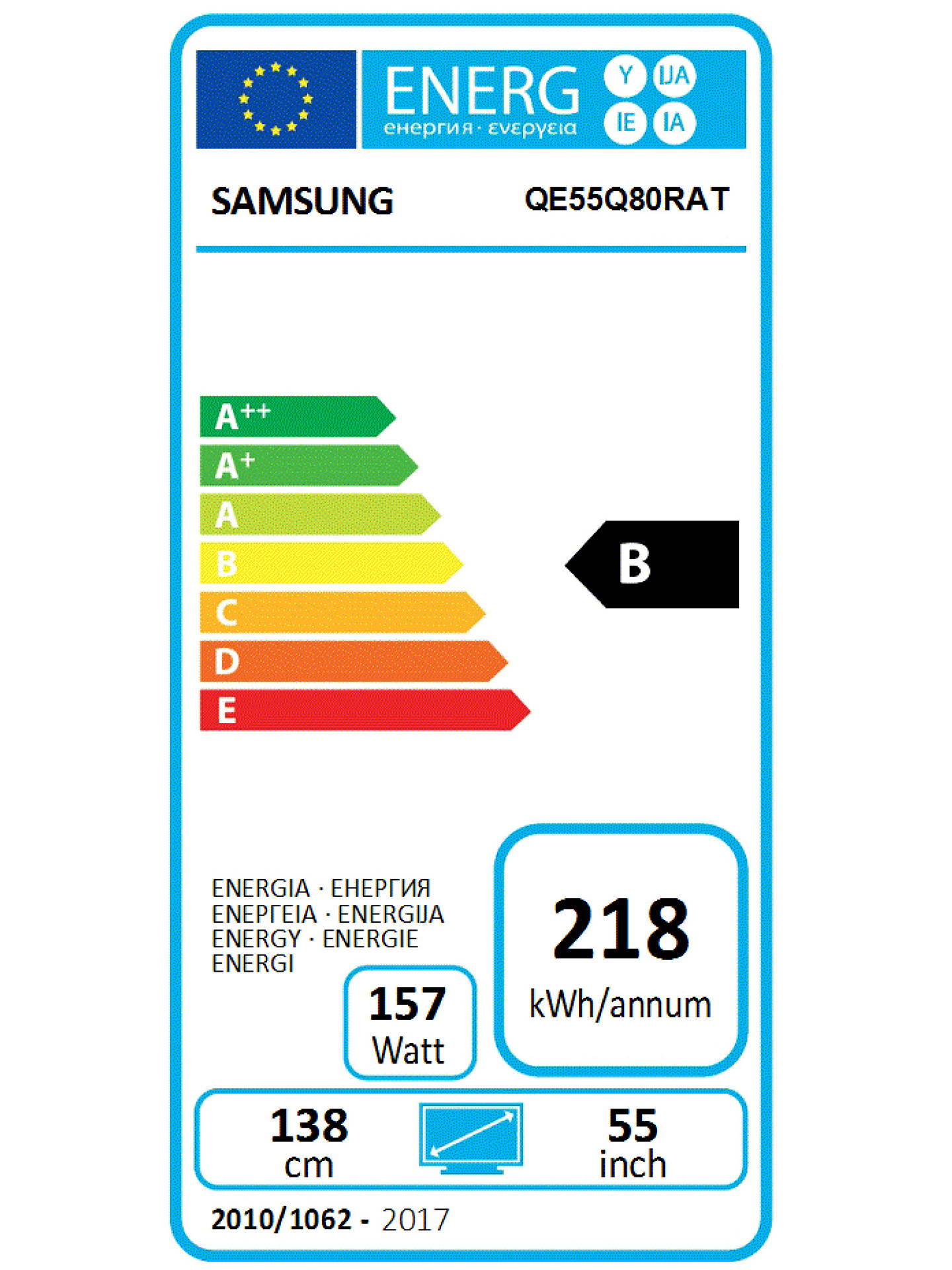 Samsung QE55Q80R (2019) QLED HDR 1500 4K Ultra HD Smart TV, 55