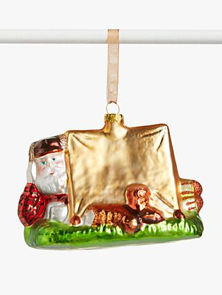 John Lewis & Partners Campfire Santa in a Tent Bauble