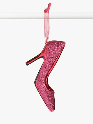John Lewis & Partners Party Stiletto Tree Decoration, Pink