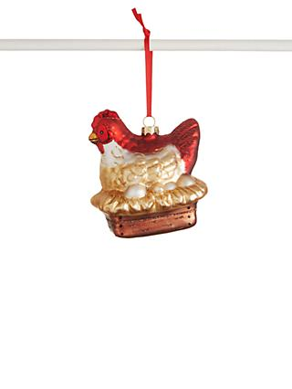 John Lewis & Partners Traditions Hen Bauble, Multi