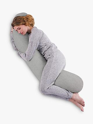 Kally Sleep Full Length Body Support Pillow, Grey