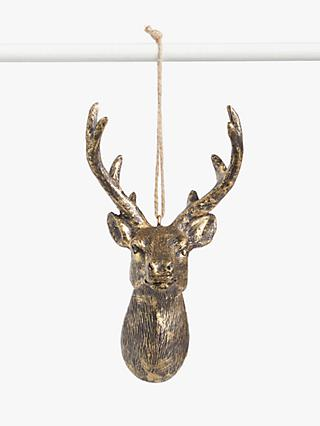 John Lewis & Partners Campfire Stags Head Tree Decoration