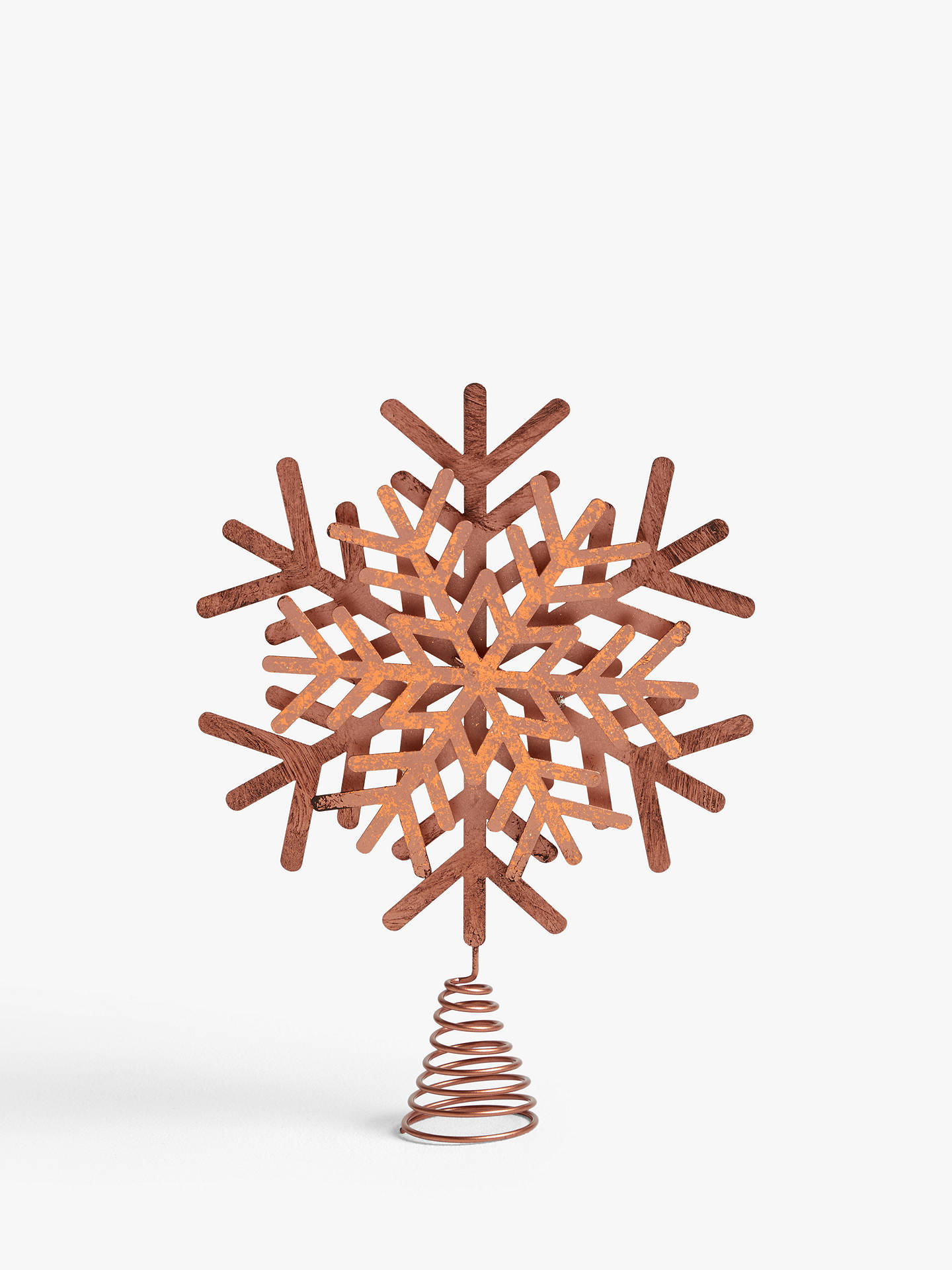 Christmas Tree Toppers.John Lewis Partners Campfire Copper Snowflake Tree Topper