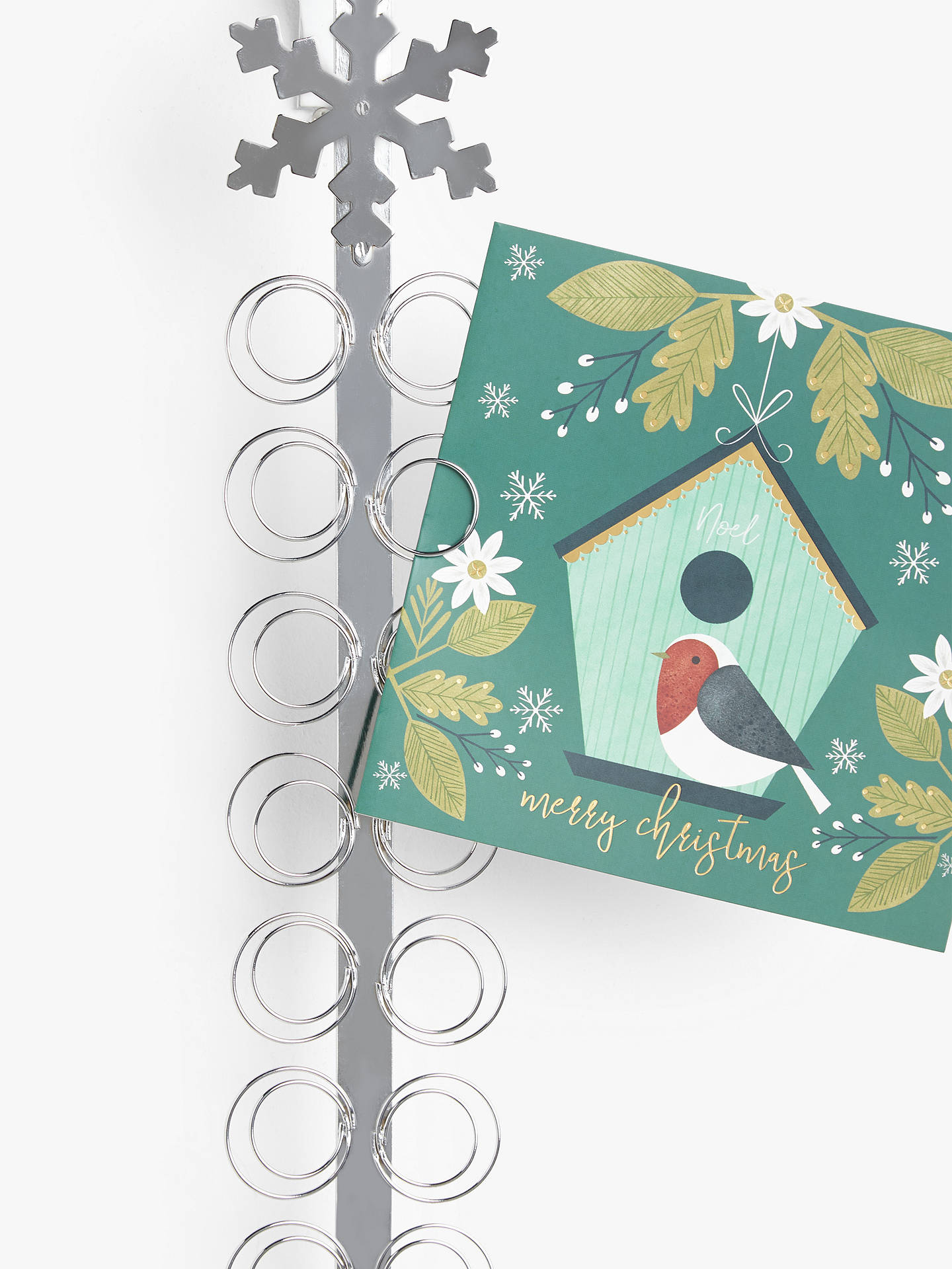 Partners Snowflake Card Holder Silver