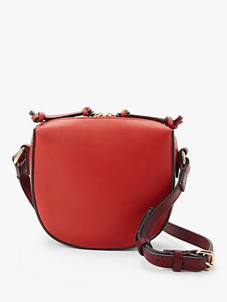 AND/OR Pachuca Small Leather Cross Body Bag, Red