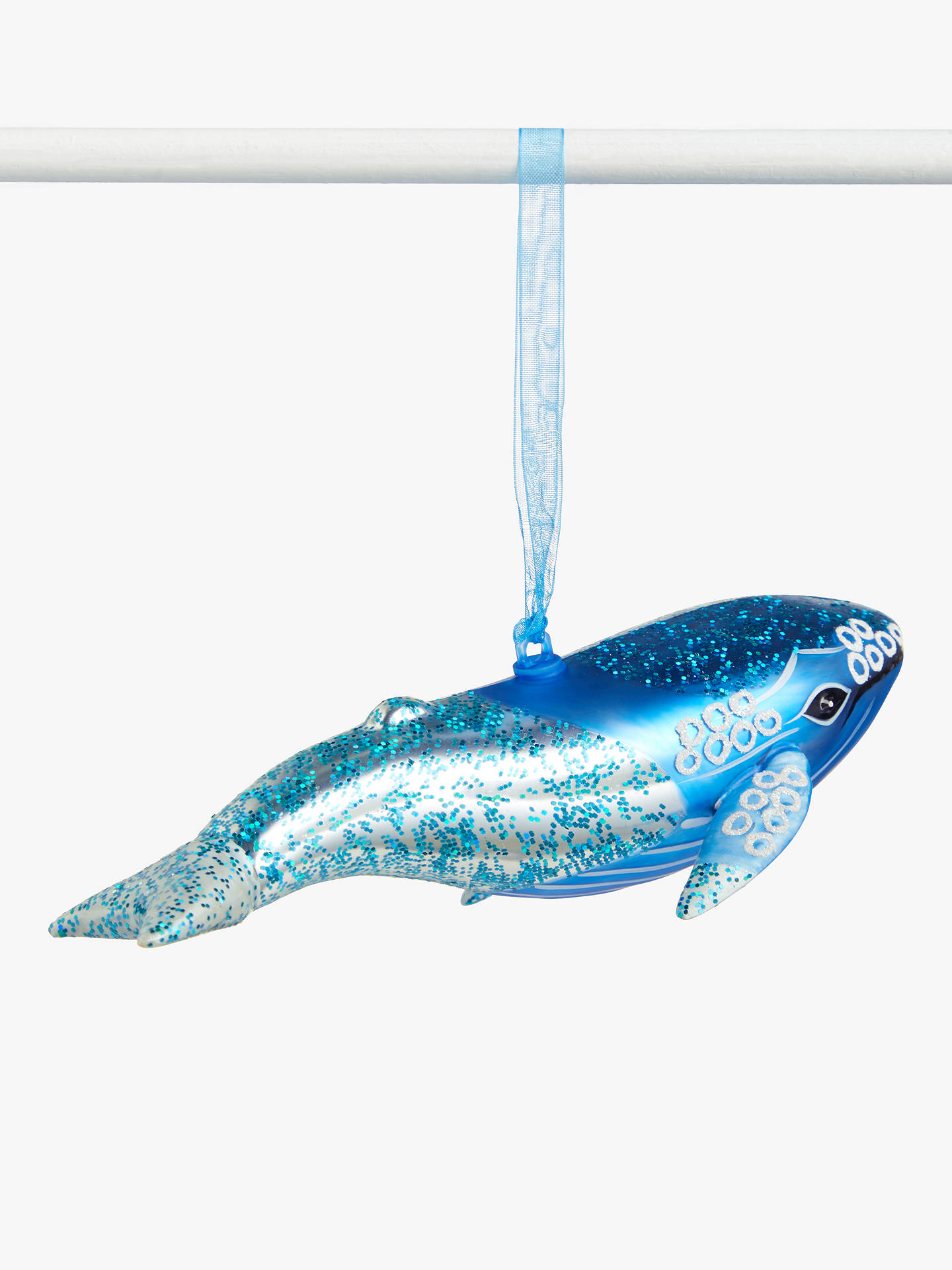 Buy John Lewis & Partners ABC Glitter Whale Bauble, Blue Online at johnlewis.com