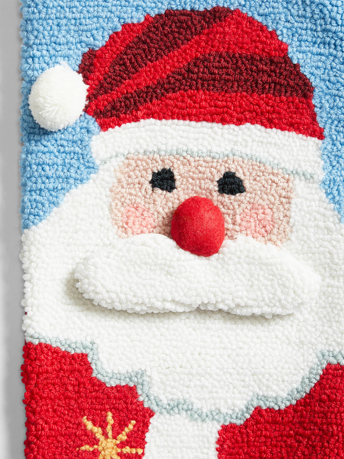 Buy John Lewis & Partners ABC Boucle Santa Christmas Stocking, Multi Online at johnlewis.com