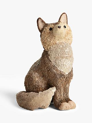 John Lewis & Partners Campfire Glittered Fox Standing Decoration