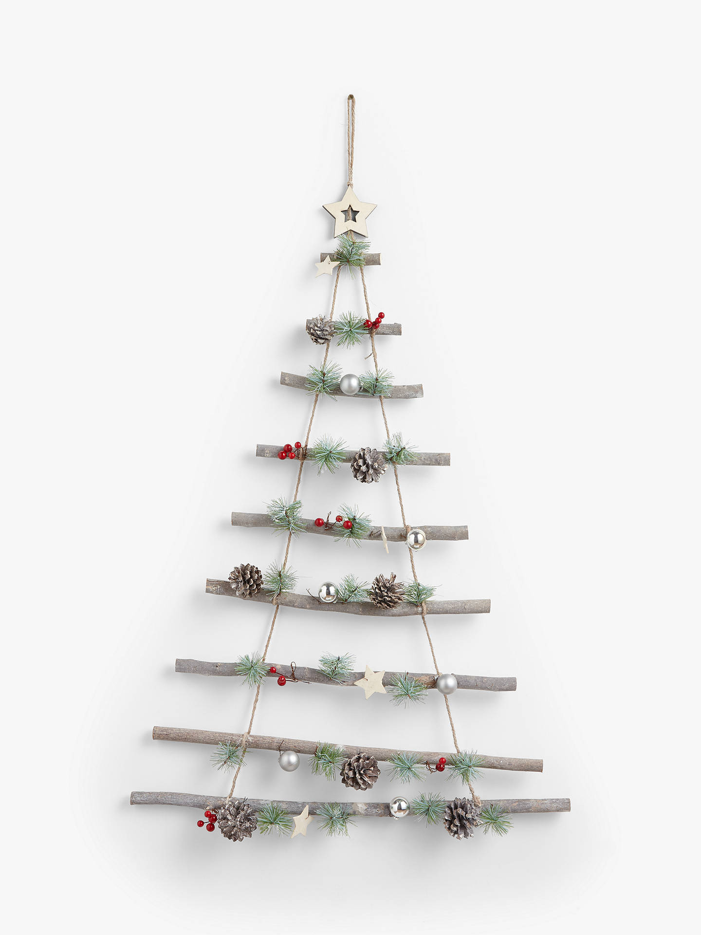Buy John Lewis & Partners Traditions Wooden Ladder with Berry Wall Decoration Online at johnlewis.com