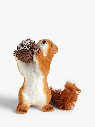 John Lewis & Partners Campfire Standing Squirrel and Pine Cone Figure