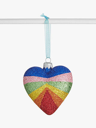 Buy John Lewis & Partners Party Glitter Rainbow Heart, Multi Online at johnlewis.com