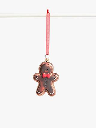 John Lewis & Partners Traditions Gingerbread Man Bauble, Multi