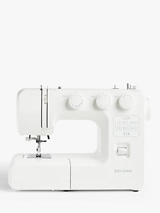 John Lewis & Partners JL220 Sewing Machine, White