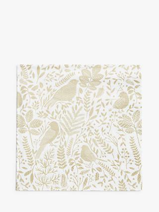 John Lewis & Partners Christmas Garden Disposable Napkins, Pack of 20